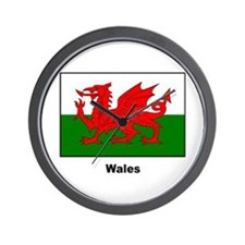 Wales Welsh Flag Wall Clock