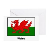 Wales Welsh Flag Greeting Cards (Pk of 10)