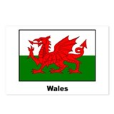 Wales Welsh Flag Postcards (Package of 8)