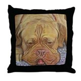 BORDEAUX DOG Throw Pillow