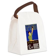 Back to School WPA Canvas Lunch Bag