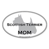 Scottish Terrier MOM Oval Decal