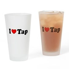 I Heart Tap Drinking Glass