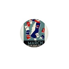 Vintage March is for Reading Mini Button