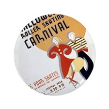 "Vintage Halloween Carnival 3.5"" Button"