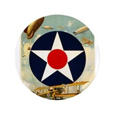 "WWII Join the Air Service/Air Force 3.5"" Button"