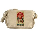 Vintage Happy New Year Messenger Bag