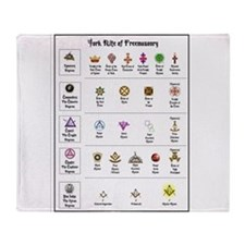 York Rite Emblems Throw Blanket