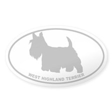 Westie - Gray on Clear Decal