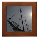 Sailing Silhouette Framed Tile