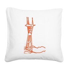 Bobby's tower Square Canvas Pillow