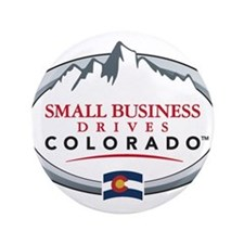 "Small Business Drives Colorado 3.5"" Button"