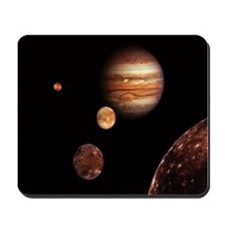 Jupiter & Galilean Moons Mousepad