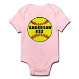 Personalized Softball Infant Bodysuit