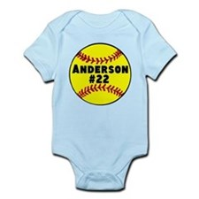 Personalized Softball Onesie