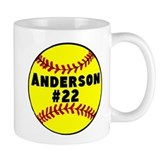Personalized Softball Small Mug
