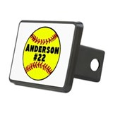 Personalized Softball Rectangular Hitch Cover