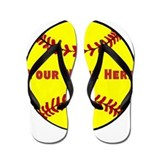 Personalized Softball Flip Flops