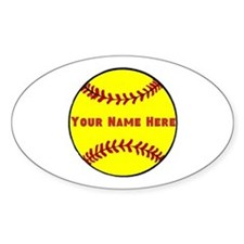 Personalized Softball Decal