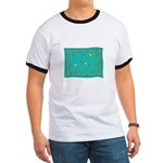 Capricorn Constellation Tapestry Design Ringer T