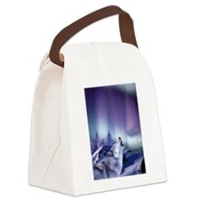 Winter Wolf Canvas Lunch Bag