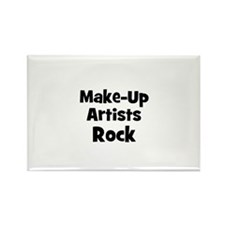 MAKE-UP ARTISTS Rock Rectangle Magnet
