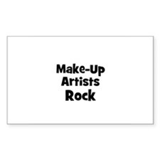 MAKE-UP ARTISTS Rock Rectangle Decal