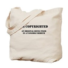Copyrighted Child Tote Bag