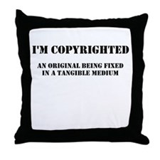 Copyrighted Child Throw Pillow