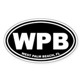 WPB (West Palm Beach) Oval Decal