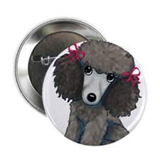 """Poodle Girl 2.25"""" Button"""