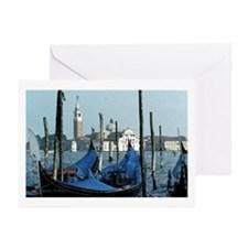 Gondolas Across San Giorgio Art Cards