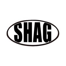Shag Euro Oval Sticker Patches