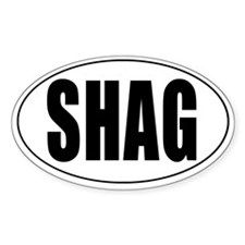 Shag Euro Oval Sticker Decal