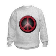 Glowing Red Peace Symbol Jumpers