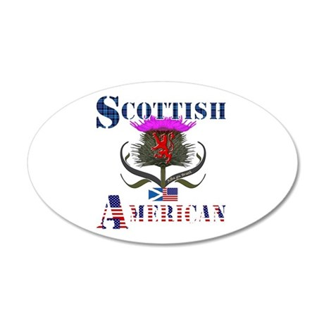 Scottish American Thistle 35x21 Oval Wall Decal