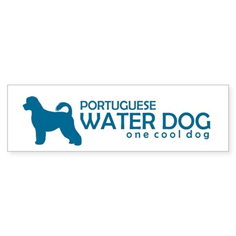 "P. Water Dog ""One Cool Dog"" Bumper Sticker"