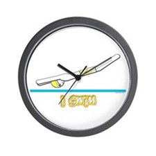 i swim (boy) yellow suit Wall Clock