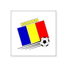 "Romanian Soccer Team Square Sticker 3"" x 3"""