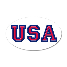 USA Logo 35x21 Oval Wall Decal