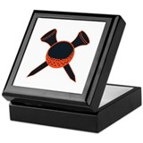 Black and Orange Golf Keepsake Box