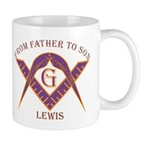 Masonic From Father To Lewis Mug