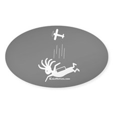 Kokopelli Skydiver Oval Decal