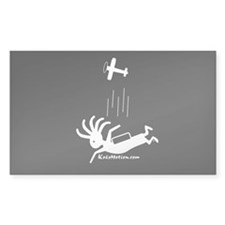 Kokopelli Skydiver Rectangle Decal