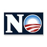 NO (to Obama) Car Magnet 20 x 12