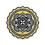 "Voluntaryist Arabesque 3.5"" Button"