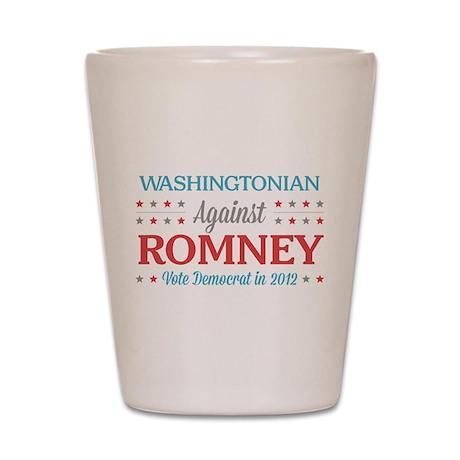 Washingtonian Against Romney Shot Glass