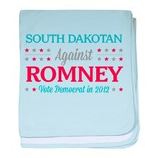 South Dakotan Against Romney baby blanket
