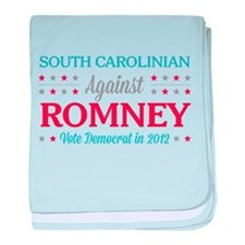 South Carolinian Against Romney baby blanket