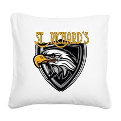 St. Richards Logo Square Canvas Pillow